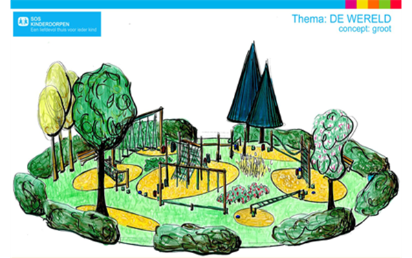 VelopA - Example design SOS Children's Villages playgrounds - 'The World' theme