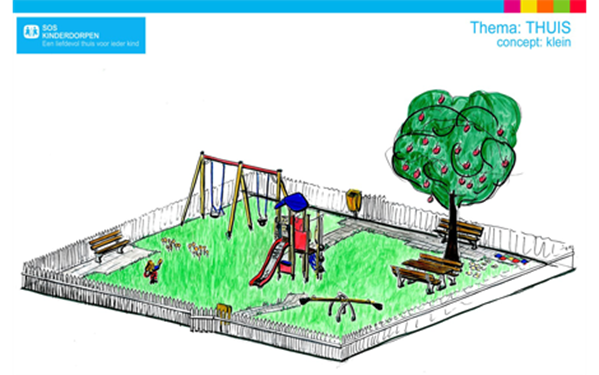 VelopA - Example design SOS Children's Villages playgrounds - 'At Home' theme